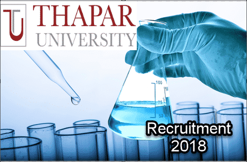 Multiple Post Vacancy @ Thapar Institute of Engineering & Technology