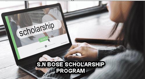 Chemical Science Satyendra Nath Bose Scholarship Program