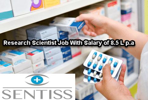 Sentiss Pharma Job, M.Pharma apply For Research scientist Post