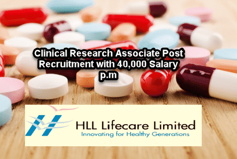 Pharma Jobs With 40,000 Salary p.m @ HLL Lifecare Ltd