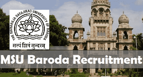Applications are invited for the post of JRF/SRF/RA @ MSU, Baroda