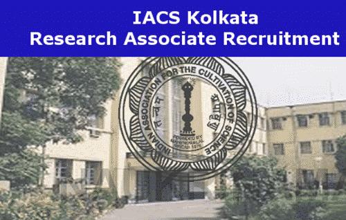 Career @ IACS, Kolkata, Msc Chemistry Research Associate Job