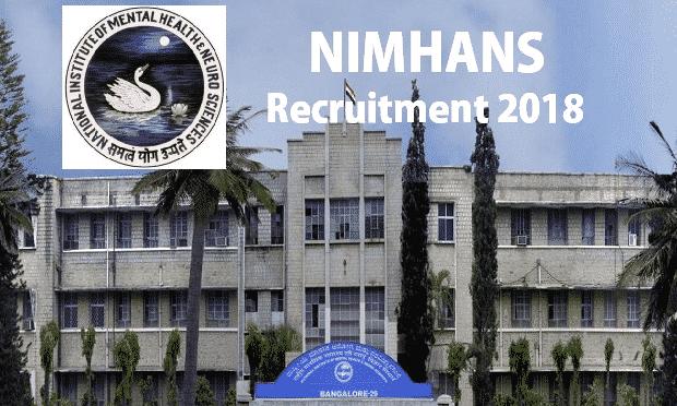 D Pharma Pharmacist Post Vacancy, 92,300/- p.m Salary @ NIMHANS