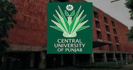 Central University of Punjab Recruiting Pharma & Chemistry JRF