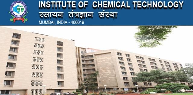 Pharma & Chemistry Research Associate Post @ ICT, Mumbai