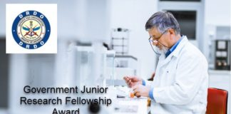 DRDO Pharma & Chemistry Govt Junior Research Fellowships