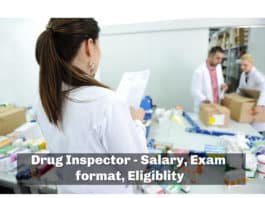 Drug Inspector - Salary, Exam format, eligiblity