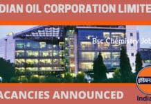 Indian Oil Latest 2019 Bsc Chemistry Job - 16 Openings