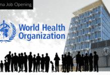 Phd Pharma Technical Officer Post Vacancy @ World Heath Organization