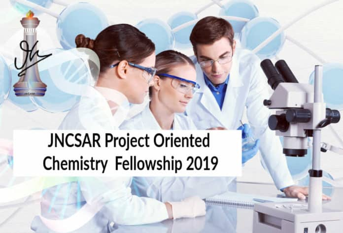 JNCSAR Project Oriented Chemistry Fellowship 2019