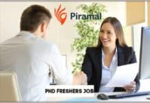 Freshers Job: Phd & Msc Chemistry Research Scientist Post at Piramal