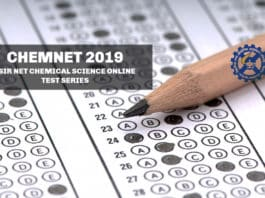 CSIR NET Chemical Science Test Series - CHEMNET 2019