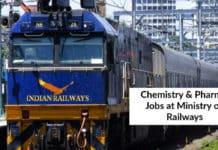 Govt Jobs: Ministry Of Railways Hiring Chemistry & Pharma Candidates