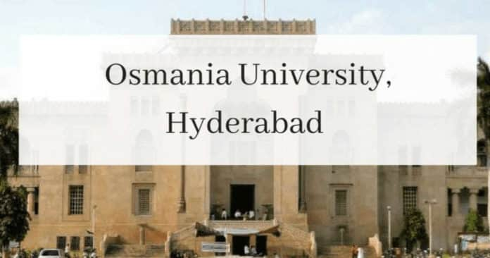 Phd Chemistry Research Associate Post at Osmania University