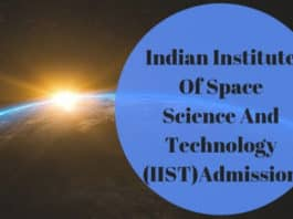 Indian Institute of Space Science and Technology: Phd Admission 2019