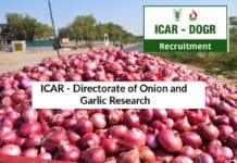 Chemistry Jobs at ICAR - Directorate of Onion and Garlic Research