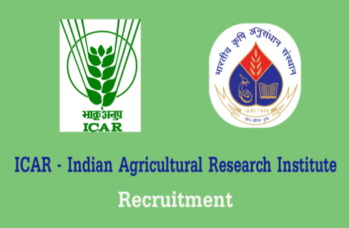 ICAR - Indian Agricultural Research Institute Msc Chemistry Job Opening