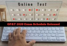 GPAT 2020 Exam Schedule Released