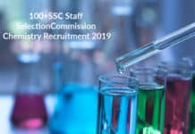 100+SSC Staff Selection Commission Chemistry Recruitment 2019