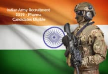 Indian Army Recruitment 2019 - Pharma Candidates Eligible