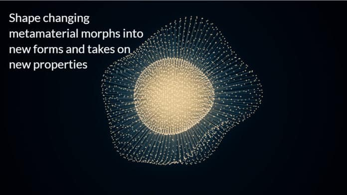 Shape changing metamaterial morphs into new forms and takes on new properties