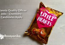 Britannia Quality Officer Jobs - Chemistry Candidates Apply