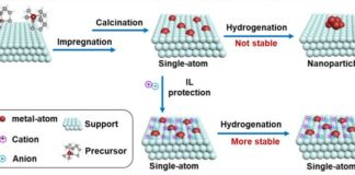 Stabilization of Single-Atoms by Ionic Liquids