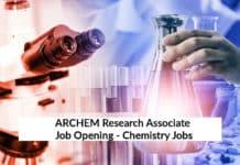 ARCHEM Research Associate Job Opening - Chemistry Jobs