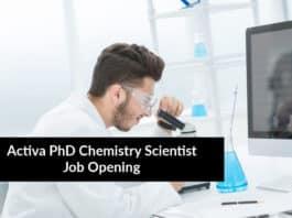 Activa PhD Chemistry Scientist Job Opening - PhD Jobs