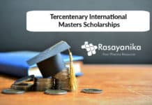 Chemistry Scholarship - Chemistry Tercentenary International Masters Scholarships