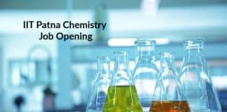 IIT Patna Chemistry Job Opening - Junior Technical Superintendent