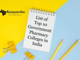 List of Top 10 Government Pharmacy Colleges in India