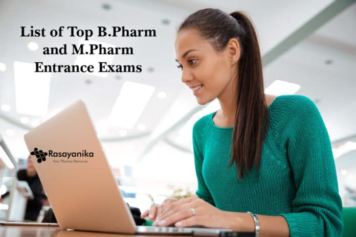 BPharm MPharm Entrance exams