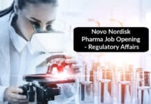 Novo Nordisk Pharma Job Opening - Regulatory Affairs