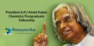 President A.P.J Abdul Kalam Chemistry Postgraduate Fellowship