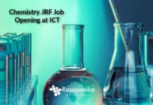 Career at ICT BBSR- Chemistry JRF Job Opening