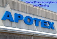 Apotex Global Pharmacovigilance Job Opening - Pharma Associate Post