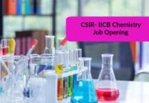 CSIR- IICB Chemistry Job Opening – Project Assistant Post Vacant