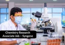 Chemistry Research Associate Job – Syngene Chemistry Jobs