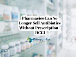 DCGI: No Antibiotics Without Prescription
