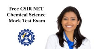 Free CSIR NET Chemical Science Mock Test Exam