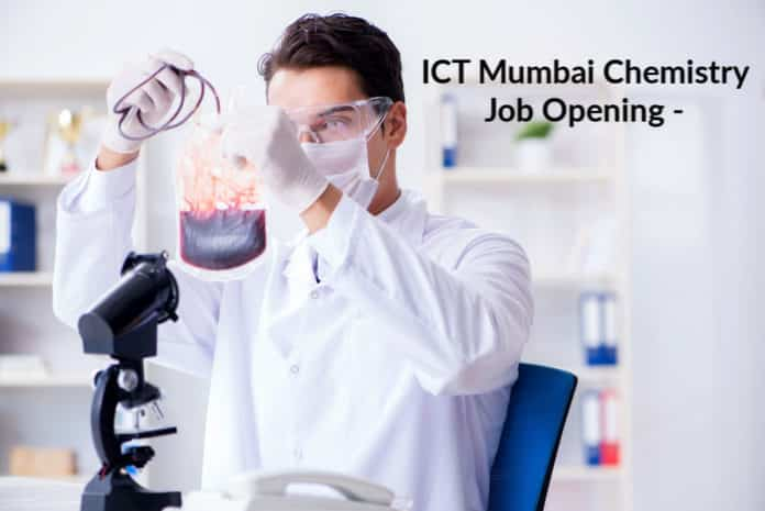 ICT Chemistry Job Opening - Msc Chemistry Project Assistant Job