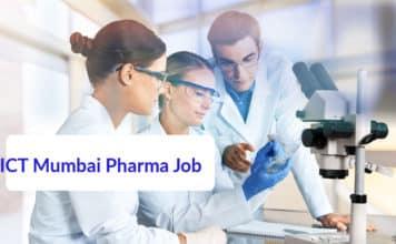 ICT Mumbai Pharma Job Opening - Pharma SRF Job Opening