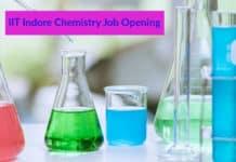 IIT Indore Chemistry Job Opening- Msc Chemistry Job