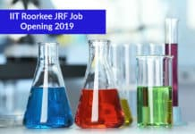 IIT Roorkee JRF Job Opening 2019-20 – Chemistry JRF Position