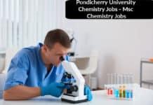 Pondicherry University Chemistry Jobs - Msc Chemistry Jobs