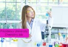 Presidency University Chemistry Job - Research Fellow