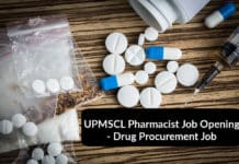 UPMSCL Pharmacist Job Opening - Drug Procurement Job For B.Pharm, M.pharm & Chemistry Candidates