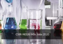 CSIR-NEERI MSc Jobs - Chemistry Project Assistant Vacancy