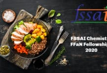 FSSAI Chemistry FFaN Fellowships 2020 - Application Details